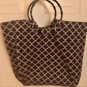 Shoppers Cloth Tote -18x13 black /white cotton